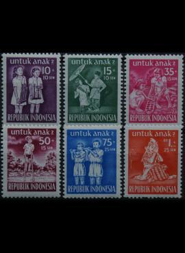 Indonezija, pilna serija ScNr B77-B82 MNH**