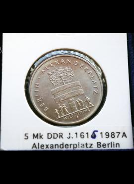 Vokietijos Demokratinė Respublika, 5 markės, 1987m-A