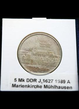 Vokietijos Demokratinė Respublika, 5 markės, 1989m-A