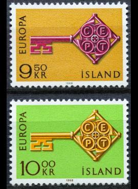Islandija, pilna serija ScNr 395-396 MNH**