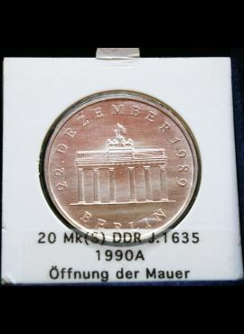 Vokietijos Demokratinė Respublika, SIDABRINĖS 20 markių, 1990m-A