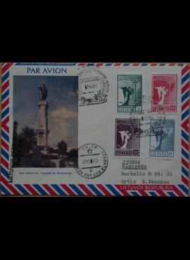 Lietuva, 1990m oro pašto vokas G