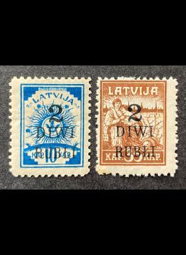 Latvija, pilna serija, MiNr 58-59 MH*