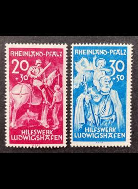 Pokario Vokietija, Prancūzų zona, Reino žemės, pilna serija, MiNr 30-31 (I) MNH**