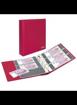 LINDNER Publica M Color raudonas (uogų spalvos) albumas, talpinantis 120 banknotų S3540BT-1