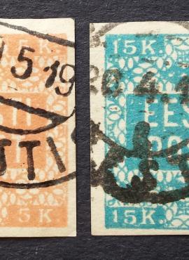 Estija, pilna serija, MiNr 1-2 B Used (O)